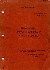 A.P. 1527A Pilot's Notes Battle I