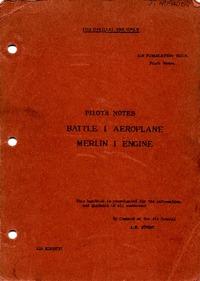 A.P. 1527A Pilot's Notes Battle I