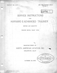 A.P.1691B Service Instructions for Harvard II Advanced Trainer