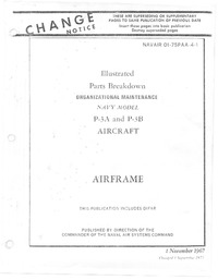 Navair 01-75PAA-4-1 Illustrated Parts Breakdown P-3A & P-3B - Airframe