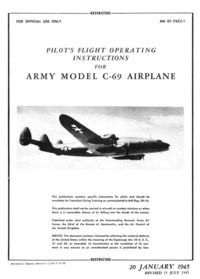 AN 01-75CJ-1 Pilot's Flight Operating Instructions for Army Model C-69