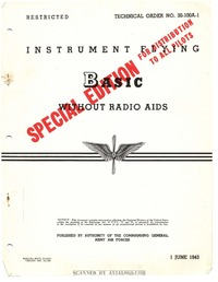 T.O. 30-100A-1 Instrument Flying Basic without Radio Aids