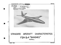 3688 F2H-3 and -4 Standard Aircraft Characteristics - 1 May 1951