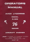 Operator's Manual Avco Lycoming Model O-320 76 series