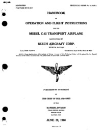 T.O. 01-90CB-1 Handbook of Operation and Flight Instructions Model C-45
