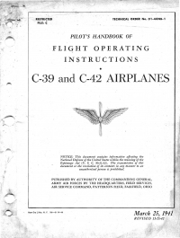 T.O. 01-40NB-1 Pilot's handbook of flight operating instructions - C-39 and C-42 airplanes