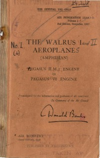 AP 1515A The Walrus I Aeroplane