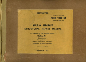 A.P. 101B-1900-6A Vulcan Aircraft Structural Repair Manual