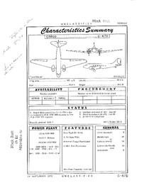 C-47D Skytrain Characteristics Summary - 26 September 1952