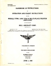 2675 Handbook of instructions of operation and flight instructions for the models YMF1 and YFM-1B