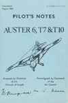 A.P. 2440 FG & J Pilot's Notes Auster 6,T7 & T10 - 2nd Edition