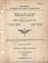 T.O. 01-60GA-3 Preliminary Handbook of Overhaul Instructions B-25, B-25A and B-25B