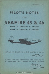 A.P. 2280F&G Pilot's Notes for Seafire 45 & 46
