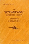 RAAF 257 The Boomerang Interceptor Aircraft - Operating Instructions