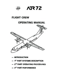ATR 72 Flight Crew Operating Manual