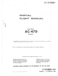 T.O. 1C-47(A)D-1 Partial Flight Manual AC-47D