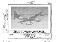 GRB-36D and RF-84F Standard Aircraft Characteristics - 7 May 1954