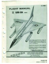 3072 TO 1B-58A-1 Flight Manual B/RB-58A
