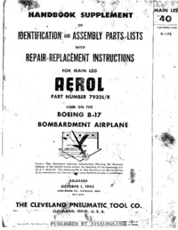 Handbook Supplement Aerol Main Leg - B-17E