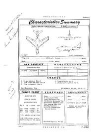 F-86D Sabre (-17D Engine) Characteristics Summary