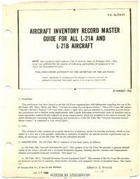 T.O. 1L-21A-21 Aircraft Inventory Record Master Guide for All L-21A and L-21B Aircraft