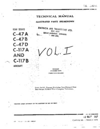 T.O. 1C-46-4 Technical Manual - Illustrated Parts Breakdown C-47 and C-117 aircraft