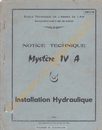 Mystere IV Notice Technique Hydraulique