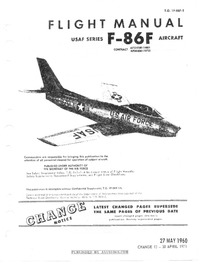 T.O. 1F-86F-1 Flight Manual F-86F