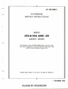 AN 02B-105BB-2 Handbook Service Instructions Models J33-A-10A and -20 aircraft engines