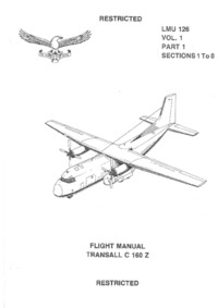 TO IC-C160Z-1 LMU 126 Vol1 Part1 Section 1 to 8 Flight Manual Transall C 160Z