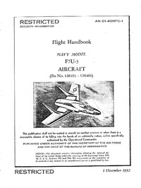 AN 01-45HFC-1 Flight Handbook F7U-3 Aircraft