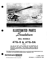 Illustrated Parts Breakdown Bell Models 47G-5 & 47G5A