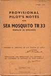 A.P. 4088A Provisional Pilot's Notes for Sea Moquito TR33