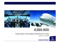 A380-800 Flight Deck and systems briefing for pilots