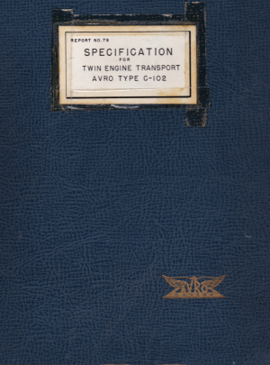 Specification for Twin Engine Transport Avro Type C-102