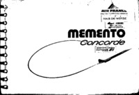 Memento Concorde - Air France (with notes)