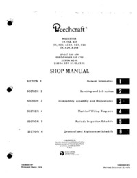 Beechcraft Musketeer, Sport, Sundowner and Sierra Shop manual