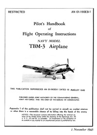 AN 01-190EB-1 Pilot's Handbook of Flight Operating Instruction TBM-3 Airplane