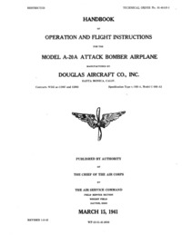 T.O. 01-40AB-1 A-20A Operating and Flight Instructions