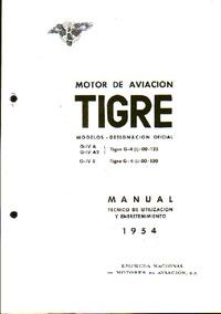 Motor de Aviacion Tigre - Models G-IV A, G-IV A2, G-IV B