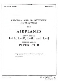 AN-01-140DA-2 Erection and Maintenance Instructions for Airplanes Army Models L-4A