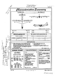 DB-36H-II Peacemaker Characteristics Summary - 3 October 1955