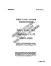 AN 01-45HA-3 Structural Repair Instructions F4U-1, F3A-1, Fg-1 Corsair I, II, II Airplanes