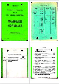 MCE104-100 Memento de l'equipage MH 1521 Broussard - Manoeuvres normales