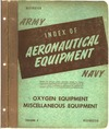 Army - Navy - Index of Aeronautical equipment volume 3 - Oxygen equipment - Miscellaneous equipment