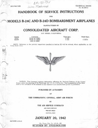 T.O. 01-5EC-2 Handbook of service instructions for Models B-24C and B-24D Bombardment airplanes