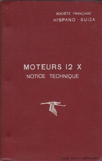 Notice technique moteur Hispano Suiza 12Xirs