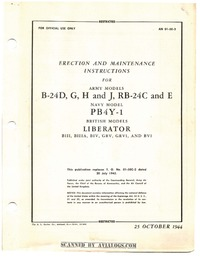 AN 01-5E-2 Erection and Maintenance Instructions for B-24D,G, H and J