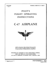T.O. 01-40NC-1 Pilot's Flight Operating instructions C-47 Airplane