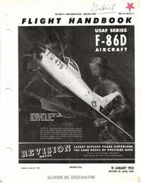 AN 01-60JLC-1 Flight Handbook F-86D Aircraft